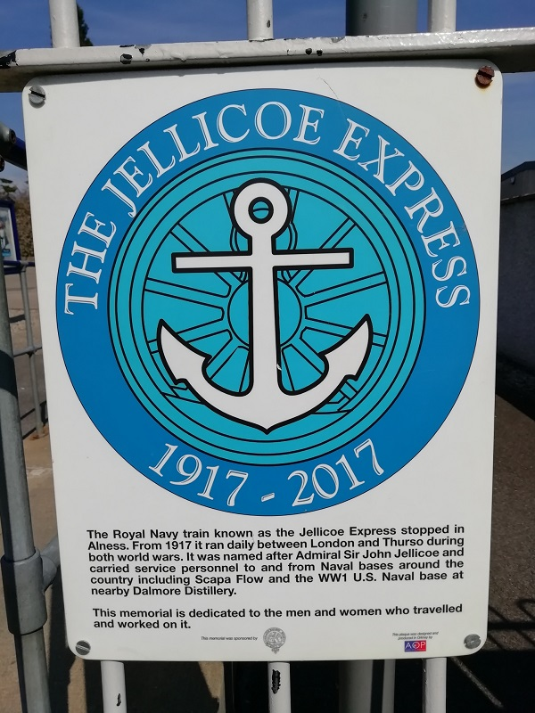 Jellicoe Express historical marker by Paigetheoracle