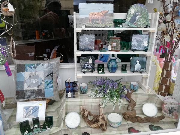 Display of Sale Items in the Window of the Heritage Centre by Paigetheoracle.