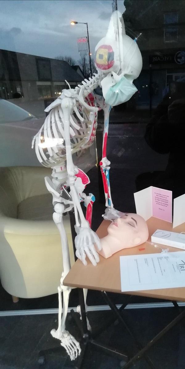 Skeleton in Shop Window by Paigetheoracle