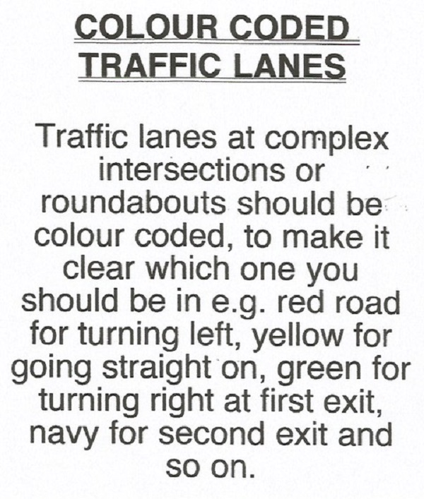 Proposal for colour-coded traffic lanes in the UK