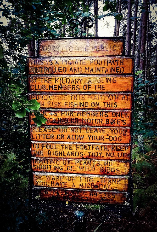 Sign in the Highland Forest by Paigetheoracle