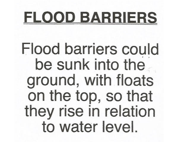 A suggestion about floating flood barriers