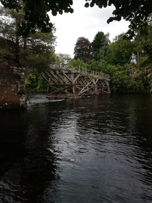 Trestle bridge in Scotland, by Paigetheoracle.