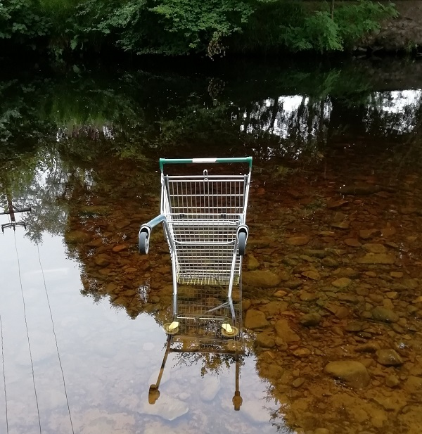 Trolley (Shopping Cart) in the River by Paigetheoracle.