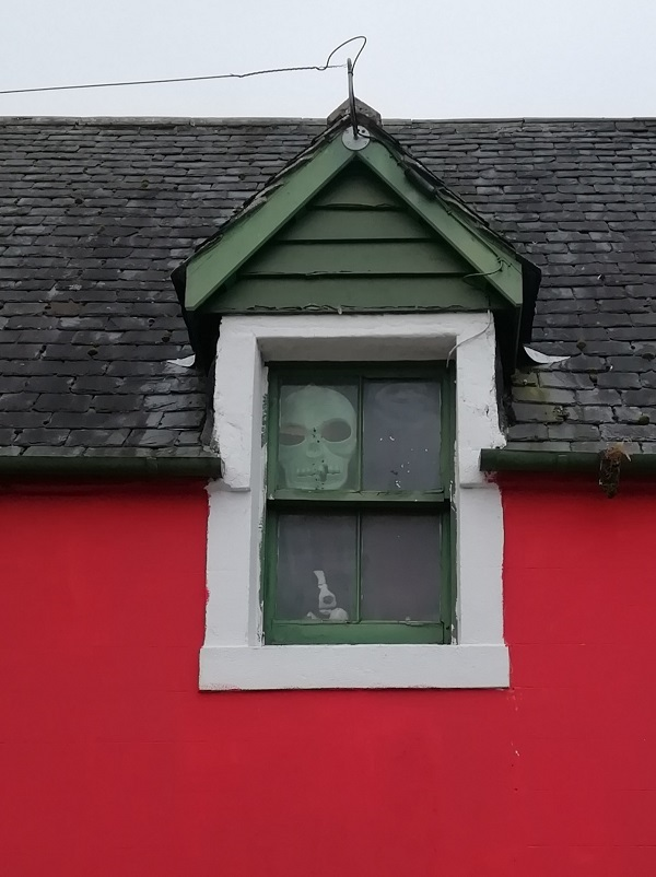 Skull in Window by Paigetheoracle