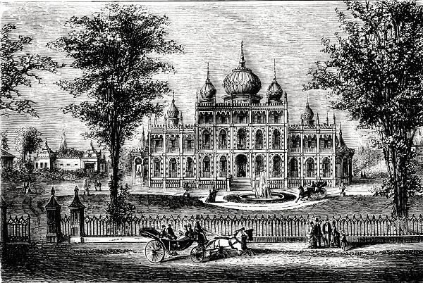 PT Barnum's home, called Iranistan