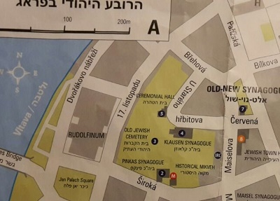 Map section of Prague
