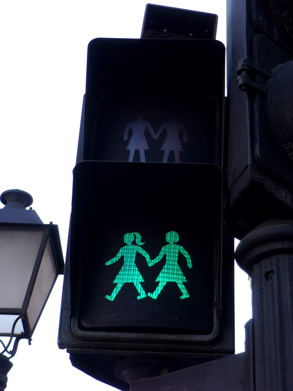 Pedestrian lights in Madrid