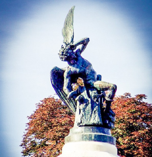 Fallen Angel in Madrid by Superfrenchie