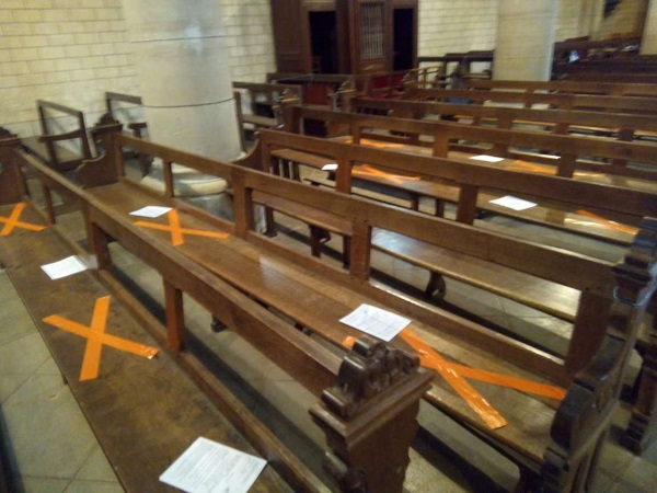 Social Distancing in Church by Superfrenchie