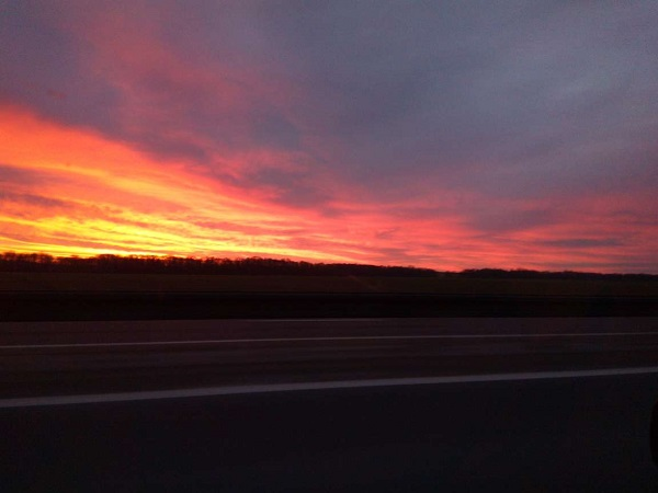 Sunrise in the Ardennes