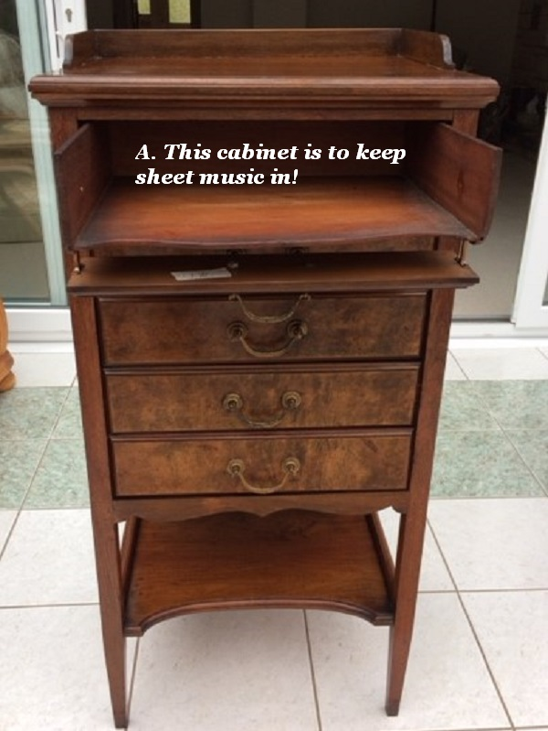 This is a cabinet for storing sheet music.