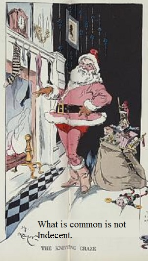 Santa Claus wearing stockings