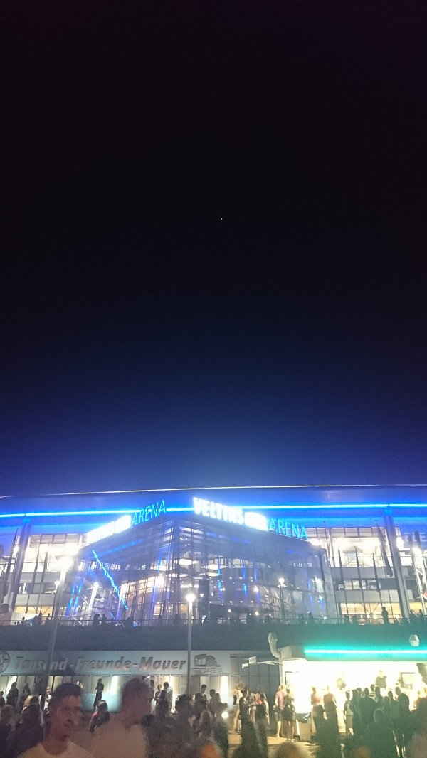 ISS over Gelsenkirchen.