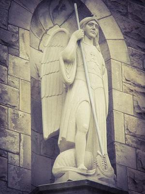 St Michael Fryburg, statue of St Michael