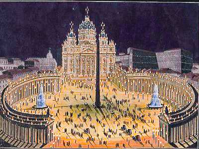 St Peter's Basilica, Rome, from the Library of Congress