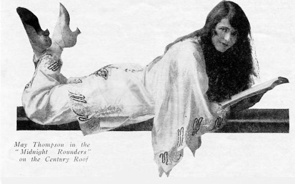 Actress May Thompson, 1921.