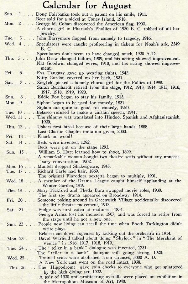 Joke calendar from 1921.