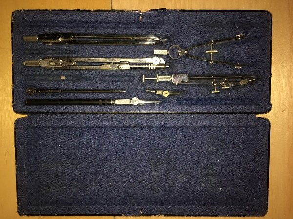 Tavaron's grandmother's architectural drawing tools