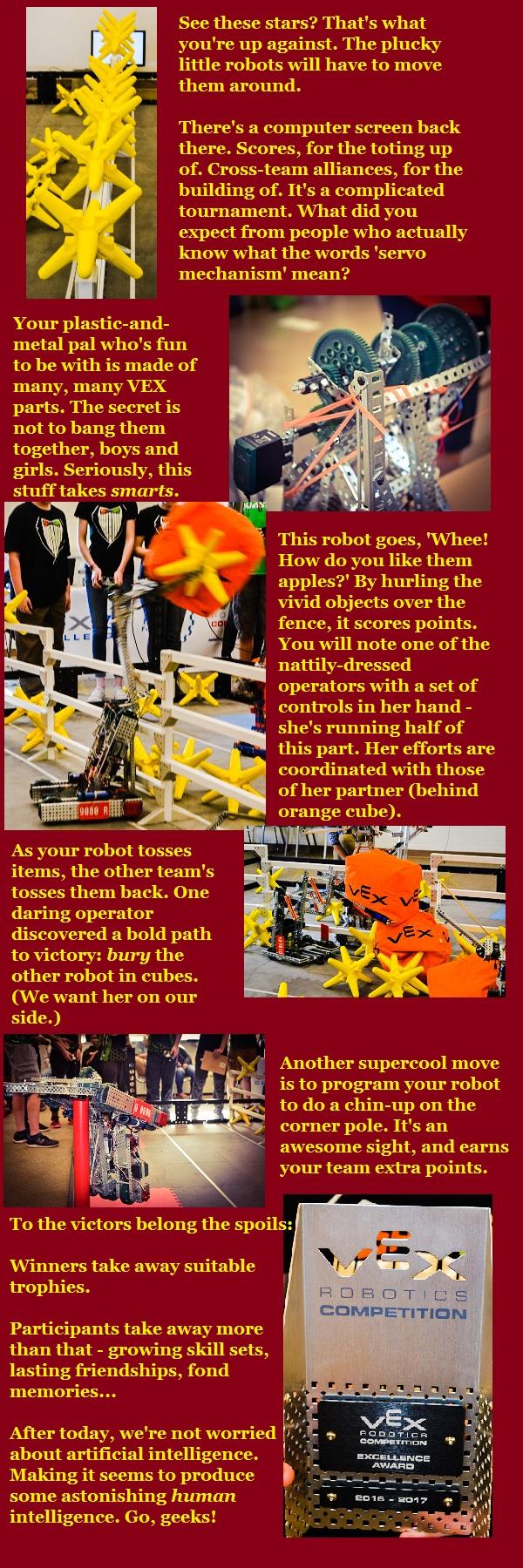 Robotics competition snaps.