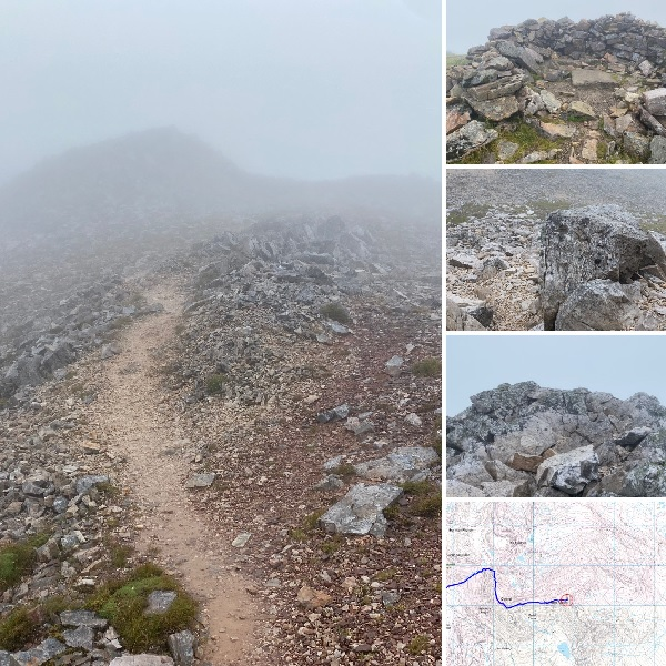 Montage of images and a map showing Woolly Mammoth's latest hike.
