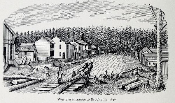 Brookville in 1840