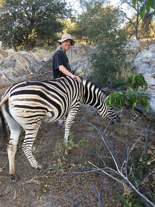 Willem and zebra friend.