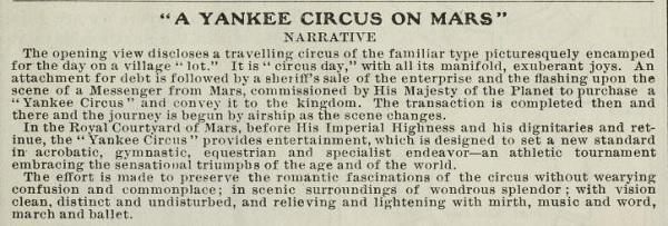 Plot of A Yankee Circus
