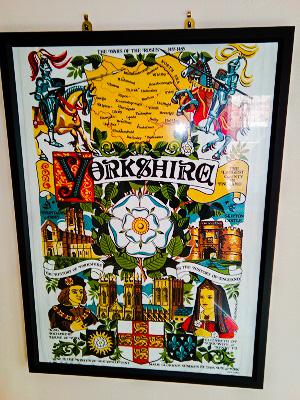 Prof Animal Chaos' Yorkshire towel wall hanging.
