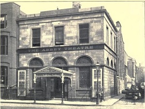 The Abbey Theatre, Dublin, around 1913.