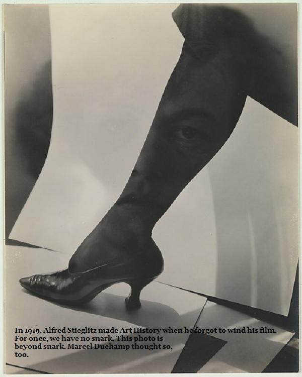 Alfred Stieglitz's iconic photo montage, 'American Girl'.