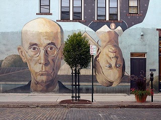 An American Gothic mural photographed by Carol M Highsmith for the Library of Congress.