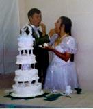 A wedding cake and a memory.