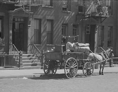 Antique moving van, Library of Congress