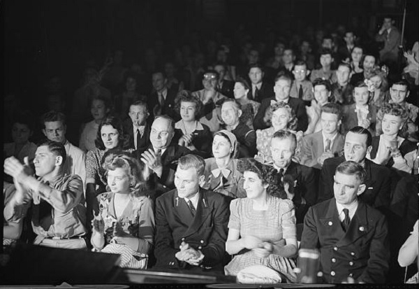 An audience in 1944.