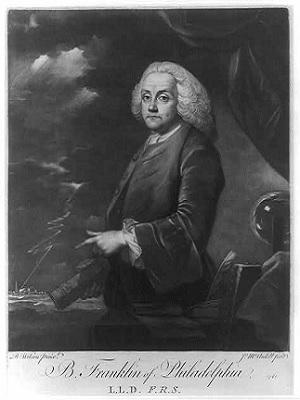Benjamin Franklin, mad scientist and electrical genius.
