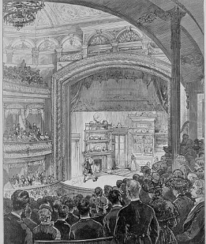 A Broadway theatre in 1882.