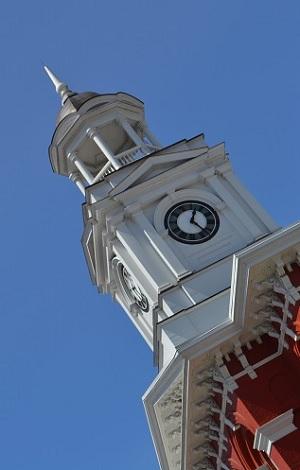 Brookville Courthouse clock