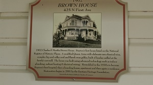 Brown House Plaque