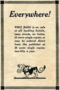 An advert for Captain Billy's Whiz Bang'.