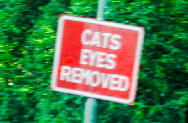 A disturbing road sign.