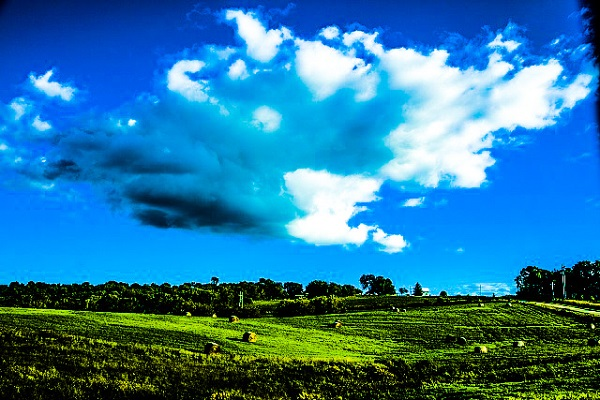 Clouds Over a Field by Carol M Highsmith