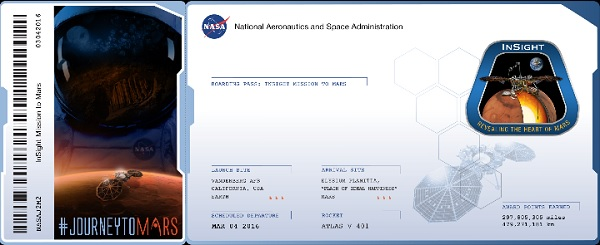 A boarding pass for the Mars mission.