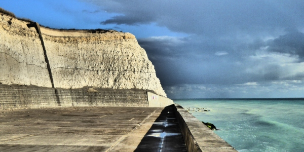 The end of the cycle track in Saltdean