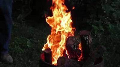 Fire Barrel at Picnic by Dmitri Gheorgheni.