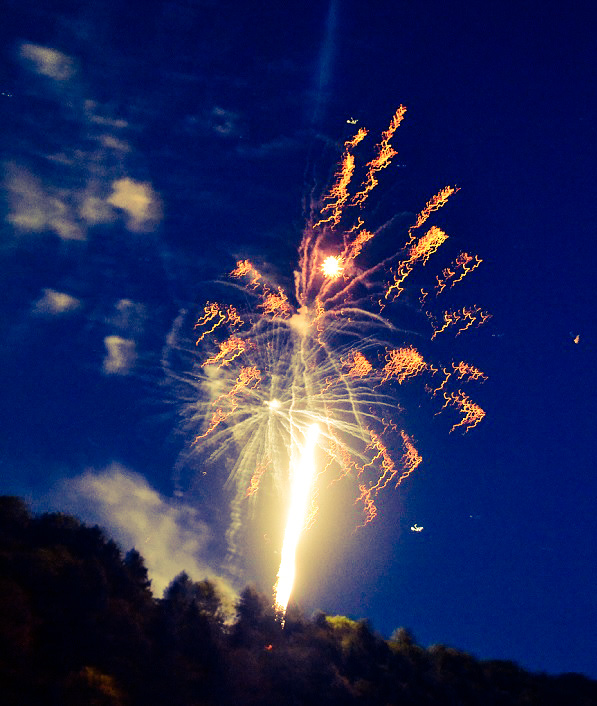 4th of July fireworks in Emlenton, western Pennsylvania, on the Allegheny River.