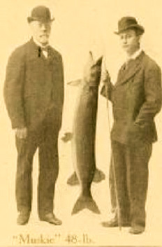 Fishermen with a big catch in 1908
