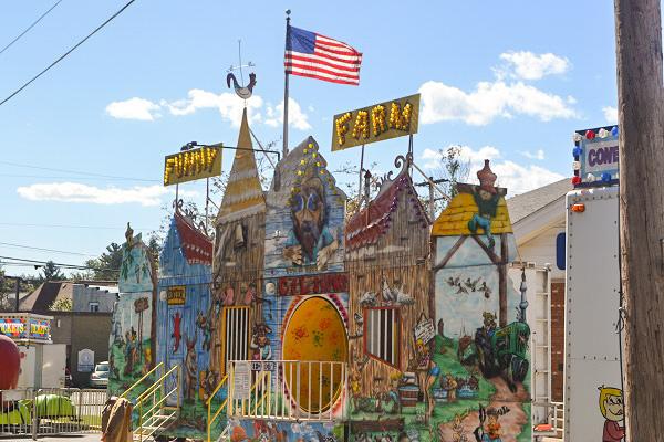 The funhouse at the fair.