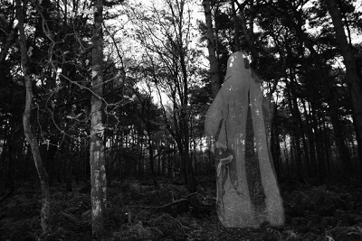 A ghoul in the woods.