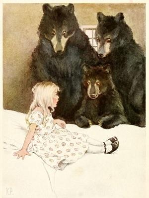 Goldilocks and Three Black Bears.